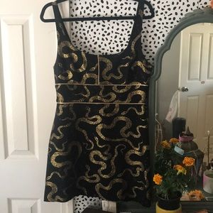 Urban outfitters snake cocktail dress